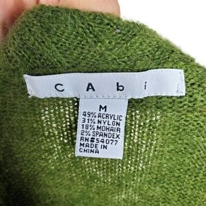 CAbi Sweaters - CAbi 697 Chelsea Green Mohair Scalloped Sweater